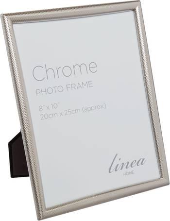31c21b608294 Chrome Criss-Cross Frame 8 x 10 from House Of Fraser