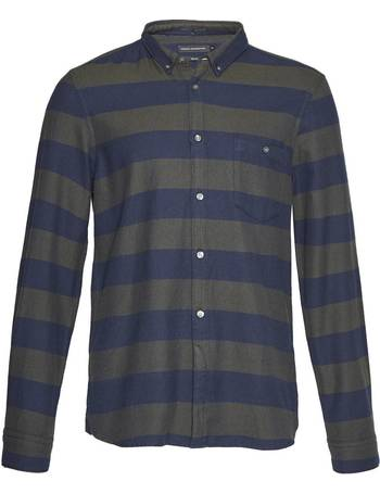 879697a5c Men's French Connection Classic Flannel Stripe Shirt from House Of Fraser