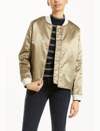 965000e03 Faux Leather Bomber Jacket