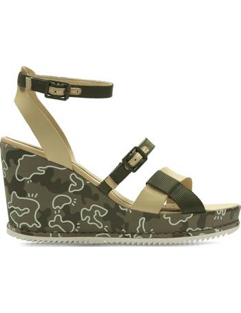 a6a973e2b00cd2 Clarks. Adesha Art Leather Wedge Sandals. from La Redoute