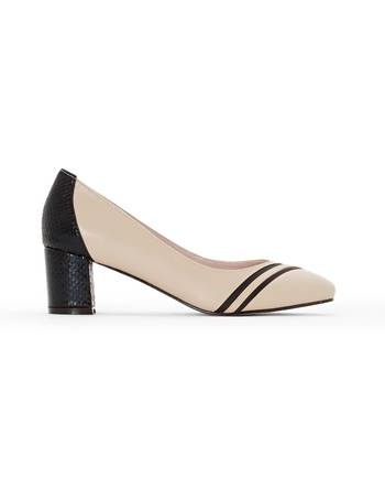 b6caf916558e6 Anne Weyburn. Leather Shoes with Block Heel. from La Redoute