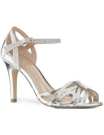 2a2c9bf67a1 Paradox London Pink. Monica Metallic Ankle Strap Sandals