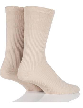 Mens 1 Pair HJ Hall Spots Bamboo Socks