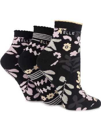 Ladies 3 Pair Pringle Tracy Argyle Cotton Socks