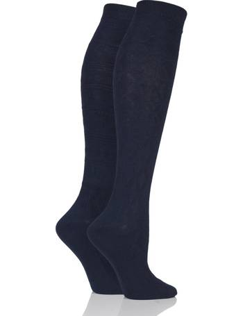 5918e73c4 Ladies 2 Pair Elle Floral and Fair Isle Patterned Knee High Socks from Sock  Shop
