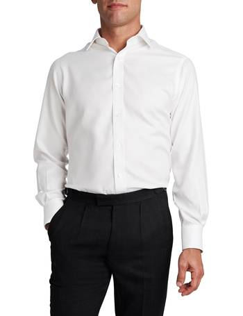 7ea4d4fcd Men's TM Lewin Non-Iron White Twill Slim Fit Shirt from House Of Fraser
