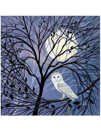Snow And Hares 8 Christmas Cards For Charity Moon 60p In Support Of Macmillan Cancer Support