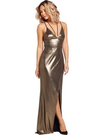 817d712ec051 Myleene Klass. Deep V Front Tie Maxi Dress. from Bargain Crazy. £14.99.  Strappy Front Thigh Split Maxi Dress from Bargain Crazy