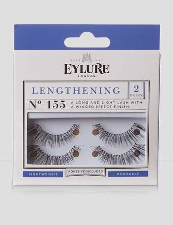 b3a0ff6b6ef 2 Pack Eylure Black Lengthening 155 False Eyelashes New Look from New Look