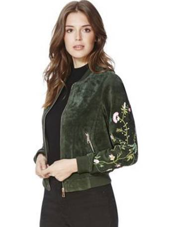 9337cebb874bf Embroidered Suede Bomber Jacket from Tesco F&F Clothing