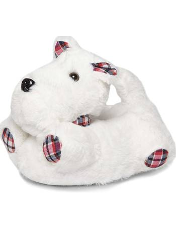 1b9ab199024f Womens White 3D Scotty Dog Slippers- Cream from Dorothy Perkins