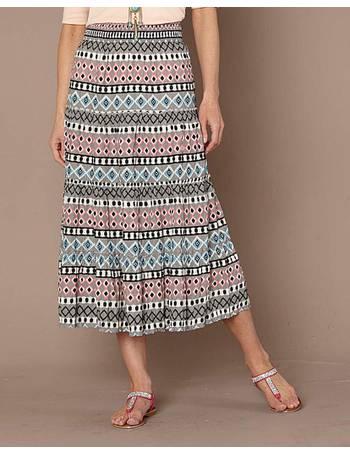 Womens Cotton Woven Maxi Skirt JD Williams