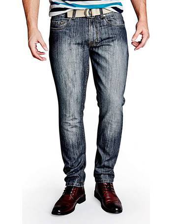 Mens Union Blues Stonewash Tapered Jeans Jacamo