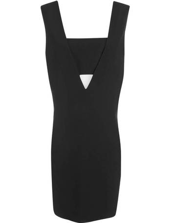 T by Alexander Wang. Women s Poly Crepe Low V Dress with Bandeau Insert 42caae4ea