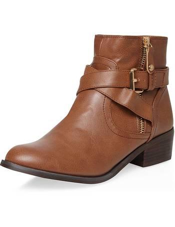41b4743dd346 Womens Tan  Melissa  Biker Boots- Brown from Dorothy Perkins