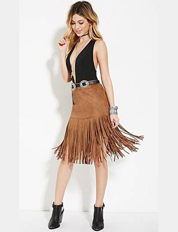 256311bd71 Shop Women's Forever 21 Suede Skirts up to 80% Off | DealDoodle