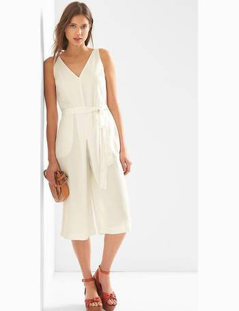 69fe453afc4 Sleeveless Tencel Culotte Jumpsuit from Gap