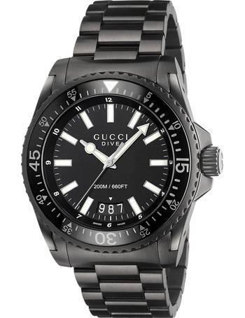 bfbb68e0309 Gucci. YA136205 Men s Dive Date Bracelet Strap Watch