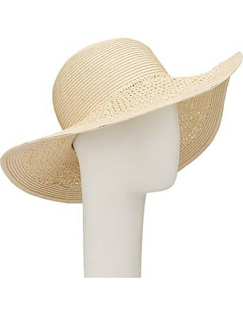 63c1a3fde3fef Packable Weave Mix Floppy Sun Hat from John Lewis