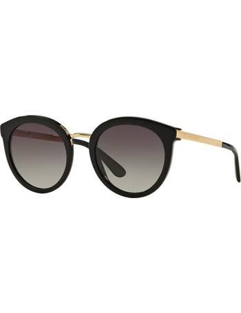 a3e8cdfeebeb Dolce & Gabbana Dg4268 52 Black Round Sunglasses from Sunglass Hut Uk