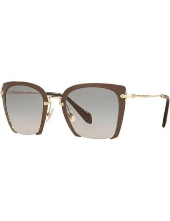 441a756cf2c Miu Miu. Mu 52rs 52 Brown Square Sunglasses. from Sunglass Hut Uk