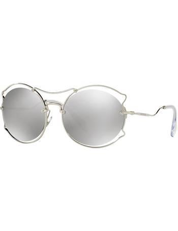 5969ff13fa8 Miu Miu. Mu 50ss 57 Silver Rimless Sunglasses. from Sunglass Hut Uk