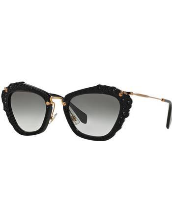 6d0b60c3acc Miu Miu. Mu 04qs 55 Black Cat Sunglasses. from Sunglass Hut Uk