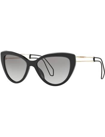 a9c0af57b57 Miu Miu. Mu 12rs 55 Black Cat Sunglasses. from Sunglass Hut Uk