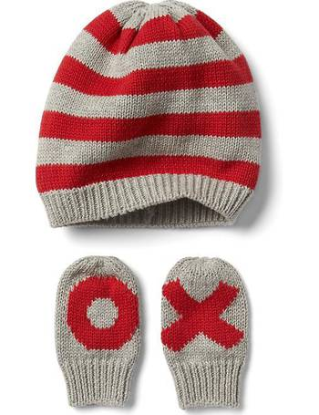 26e7534c919 Love Stripe Hat And Mitten Set from Gap