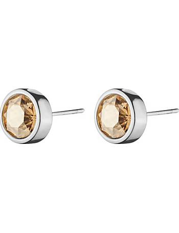 dd32965be Dyrberg/Kern Solitaire Swarovski Crystal Round Stud Earrings from John Lewis