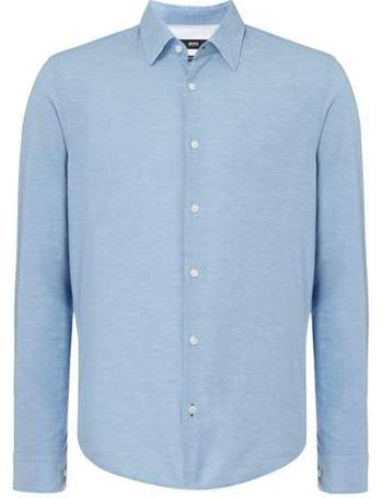 20f59ca4d Men's Hugo Boss Lance 32F Linen Regular Fit Long Sleeve Shirt from House Of  Fraser