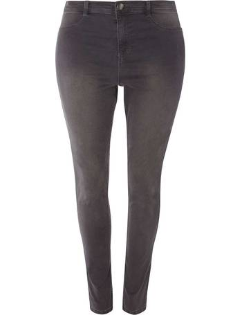4883a7565b9a5 Womens DP Curve Plus Size  Frankie  Charcoal Fly Front Jeggings- Grey from  Dorothy