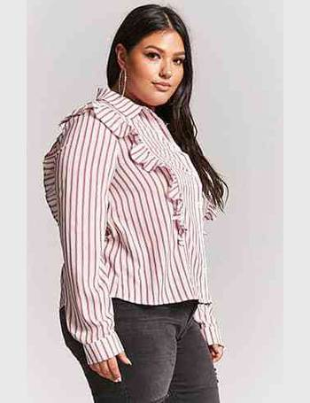 8585fb8d66d Shop Women s Forever 21 Plus Size Shirts up to 70% Off