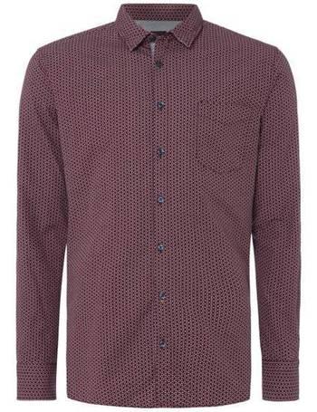 a79e49f9 Men's Hugo Boss Cattiude 1 geo print shirt from House Of Fraser