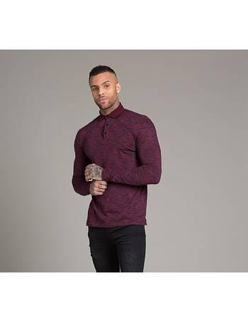 Quinto Space Dye Long Sleeve Polo Shirt from Footasylum e41bc886a