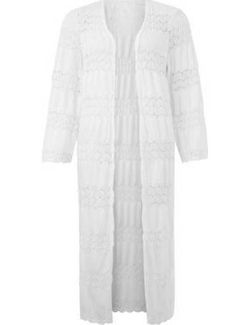 e4b84d197e09 Cameo Rose. White Crochet Lace Maxi Kimono New Look