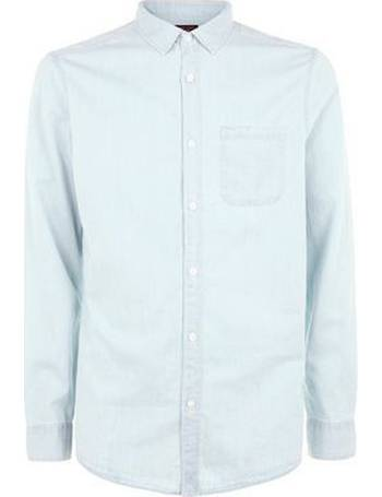 0642a1a4f65 Pale Blue Long Sleeve Denim Shirt New Look from New Look