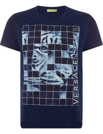 9272255a Men's Versace Jeans Tiger Grid Print T-Shirt