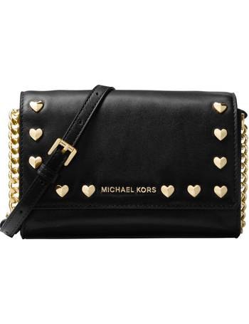 775d90303e3c Ruby Leather Heart Stud Clutch Bag from John Lewis