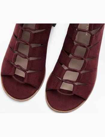 43ed58f5438b New Look. Burgundy Suedette Low Block Heel Ghillie Sandals New Look. from  New Look. £25.99. Light Brown ...