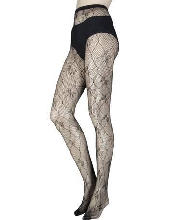 e024cf0fb8b Ladies 1 Pair Elle Hearts Net Tights Ladies 1 Pair Elle Bow Pattern Fishnet  Tights from