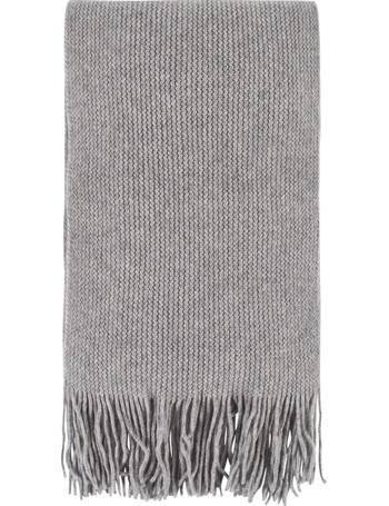 5d75bae63 Ladies and Mens Great and British Knitwear 100% Cashmere Plain Knit Scarf  With Fringe from