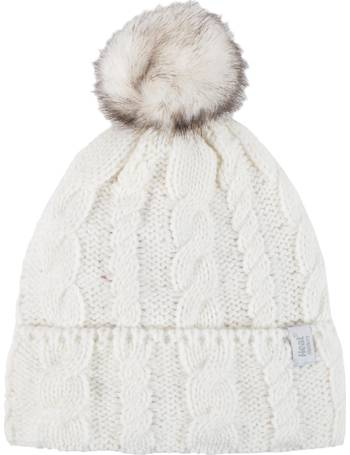 9172117e Ladies 1 Pack Heat Holders Heat Weaver Cable Knit Pom Pom Hat from Sock Shop