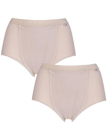 f31bb31964c5 Ladies 2 Pack Sloggi Control Shaping Maxi Cotton Briefs from Sock Shop