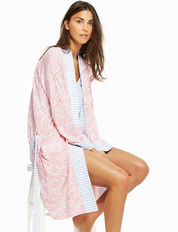 9f9b988b04 Pink Paisley Jasmine Jersey Dressing Gown Size S-M