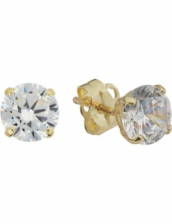 13af9bb27 Revere. Men's 9ct Gold Cubic Zirconia Single Stud Earring