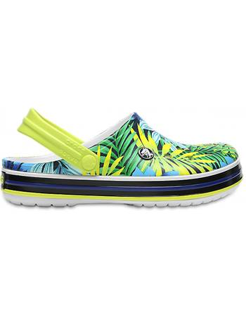 35f66d56f353e Clogs White Tennis Ball Green Crocband™ Tropical Graphic V s from Crocs