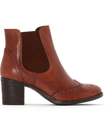 Magoa Heeled Leather Ankle Boots from La Redoute