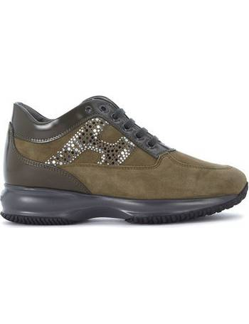 Hogan. Interactive leather suede sneaker with mirror polka dots women's  Shoes (Trainers) in Green