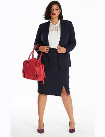 Womens Stitch Detail Tailored Jacket Simply Be